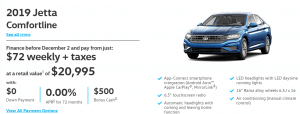 2019 Jetta Comfortline Vancouver Special Offers