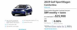 2019 Golf SportWagen Comfortline Vancouver Specials Offers